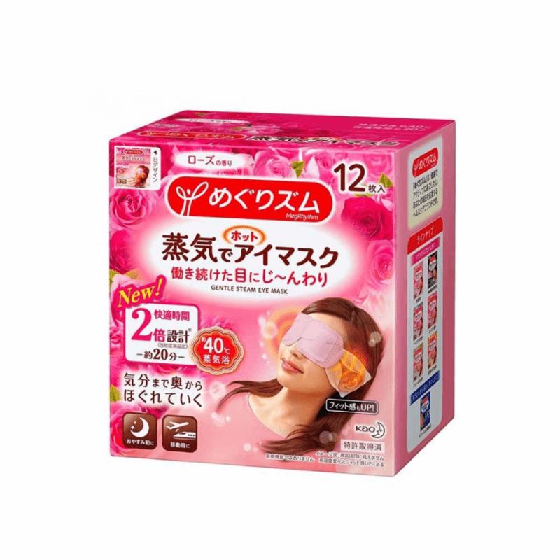 KAO 花王 - MegRhythm 蒸氣眼罩 玫瑰味 12枚
