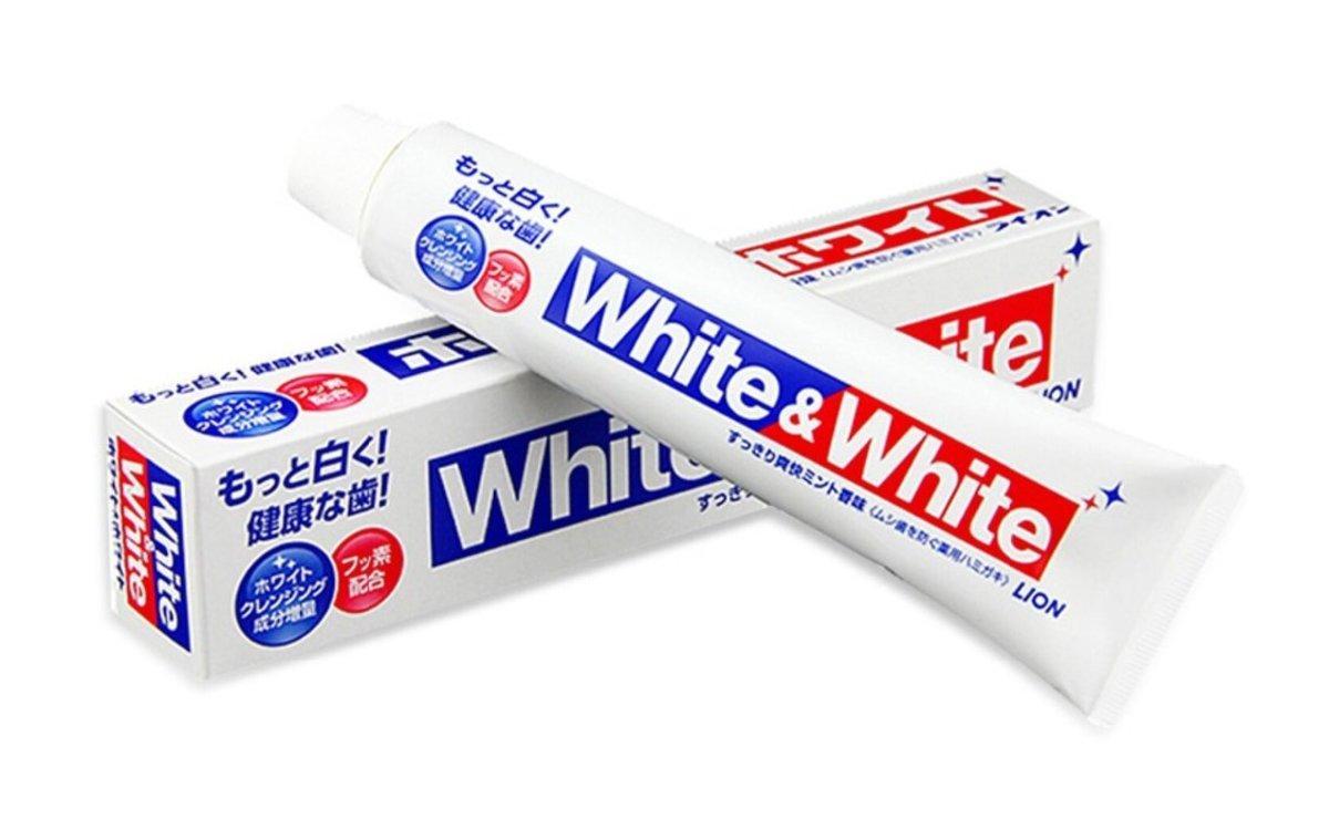 獅王 - White&White 特效酵素美白牙膏150g