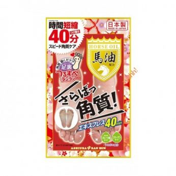 ASHIURA ran run - 馬油去角質美容足膜 30ml (2片入)