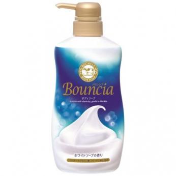 牛乳石鹼 - BOUNCIA玫瑰味牛乳美白保濕泡泡沐浴乳 500ML