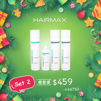 HairMax®抗脫活髮聖誕Set 2 (防脫生髮洗護套裝 + 活力精華素)